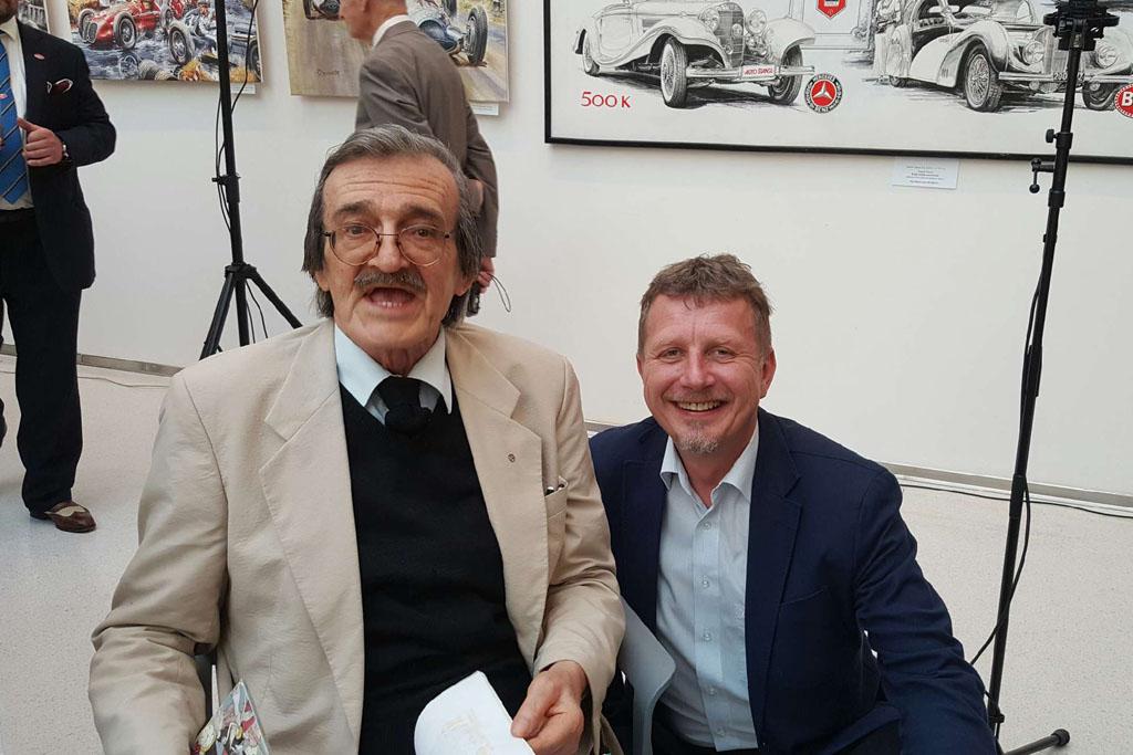 Spoluzakladatel South Bohemia Classic Michal Pavlíček s Václavem Zapadlíkem